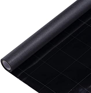 Velimax Static Cling Total Blackout Window Film Privacy Room Darkening Window Tint Black Window Cover Removable 100% Light Blocking No Glue (17.7 x 78.7 inches)