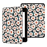 Ayotu Water-Safe Case for Kindle Paperwhite 2018 - PU Leather Smart Cover with Auto Wake/Sleep - Fits Amazon All-New Kindle Paperwhite Leather Cover (10th Generation-2018) K10 The Daisy