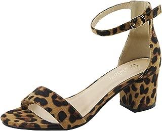 Best leopard block heel sandal Reviews