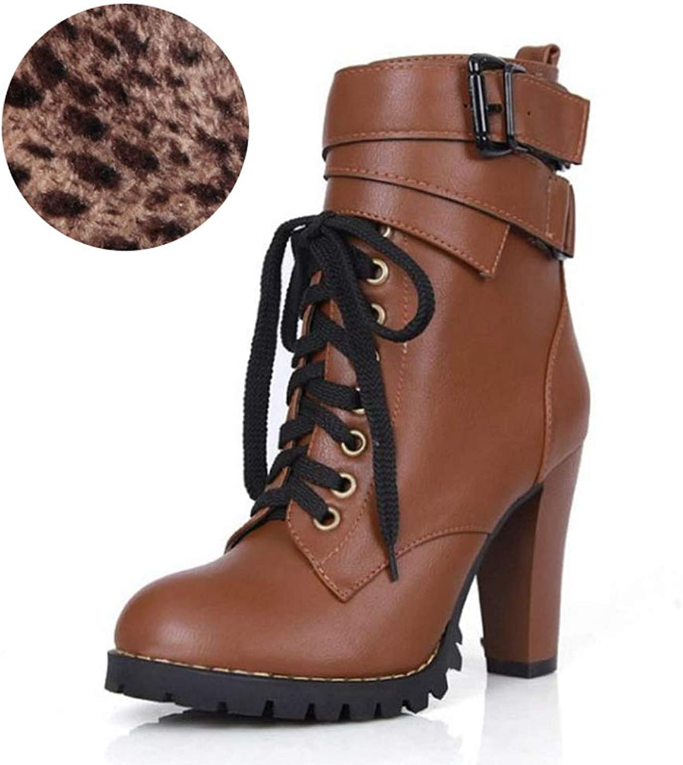 T-JULY Women's Winter Fur Warm Ankle Boots Cross Strap shoes Women Lace up Short Boots Fashion Boots Girls Footwear