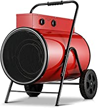 Termoventiladores y calefactores cerámicos Calentador de Ventilador Industrial 15kw Eléctrico Con Temporizador Taller de Control Termostático Ventilador de Cilindro Calentadores Eléctricos Adecuado Pa