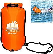 SmallPocket Waterproof Beach Bag Boya De Natación para Aguas Abiertas con Bolsa Estanca, Resistente al Desgaste de Nylon Resistente a la Rotura de PVC