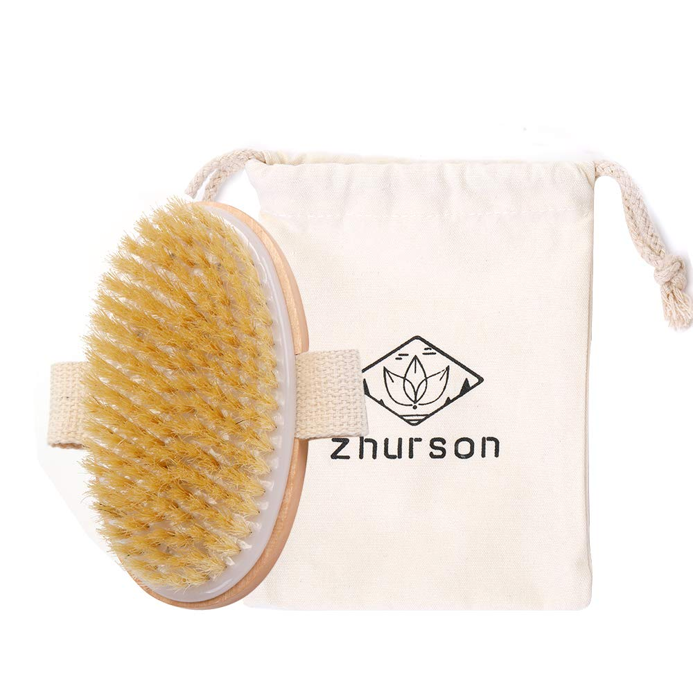 Zhurson Price reduction Dry Brushing Body Bath Brush Ranking TOP4 oval Bristles bat Natural