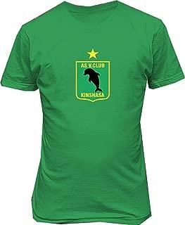 AS VIta Club Congo Futbol Soccer Football t Shirt,Green,Small