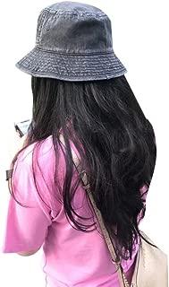 Women 100% Cotton Denim Water Washed Bucket Hat Summer Cap
