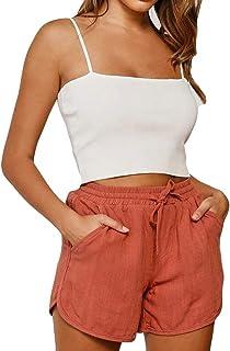 WSPLYSPJY Women Summer Leopard Beach Shorts Casual Short Pants