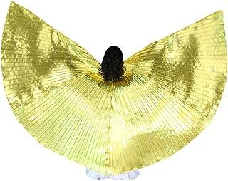 Winkey Femmes Danse du Ventre Ailes LED Color/é Costumes de Danse du Ventre Ailes de Danse pour Festival C/él/ébration