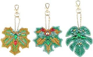 Mayunn 5Pcs 5D Cartoon Key Ring DIY Full Diamond Drill Diamond Pattern Set Diamond Embroidery Needlework Cross Stitch Cross
