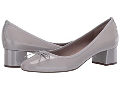 Rockport Total Motion Sydney Bow Pump (Heather Grey Patent) Women
