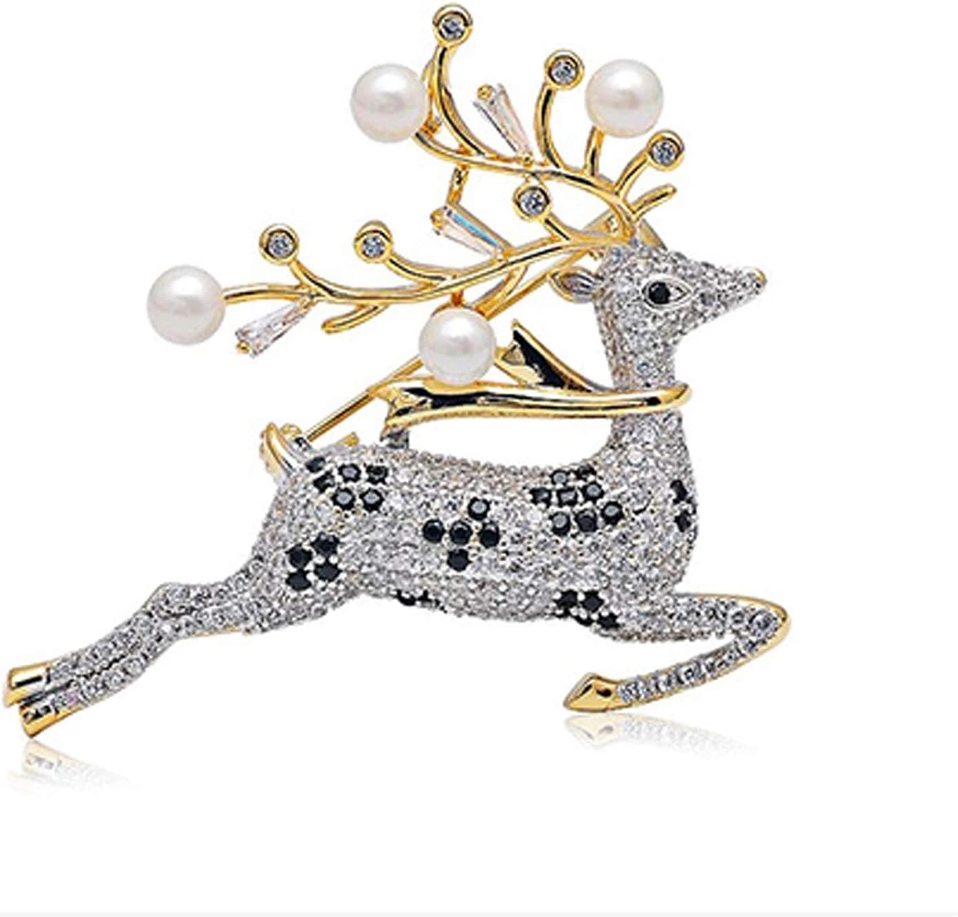Pins Free shipping on posting reviews Deer Brooches Men Women's Suit Brooch Jacket Seattle Mall wit Alloy