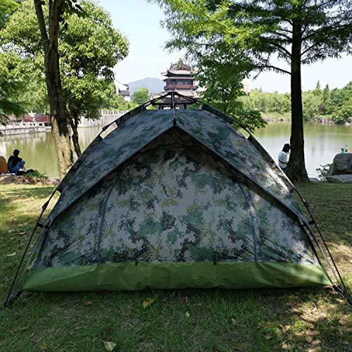 LUFEILI Outdoor-Zelt Handbuch 3-4 Personen Doppel Tarnung Camping Truppenzelt
