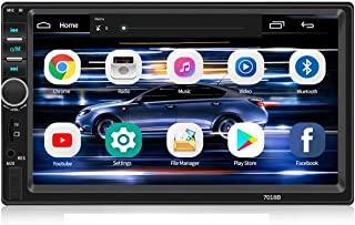 Double Din Car Stereo,WZTO 7 inch Touch Screen Double din car Radio,Compatible with BT TF USB MP5/4/3 Player FM Aux-in Rad... photo