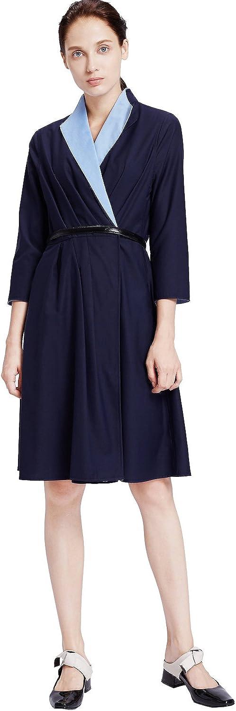 My Bun 2017 Autumn Slim Fit Womens Casual Temperament Knee Length Plus Size Dresses