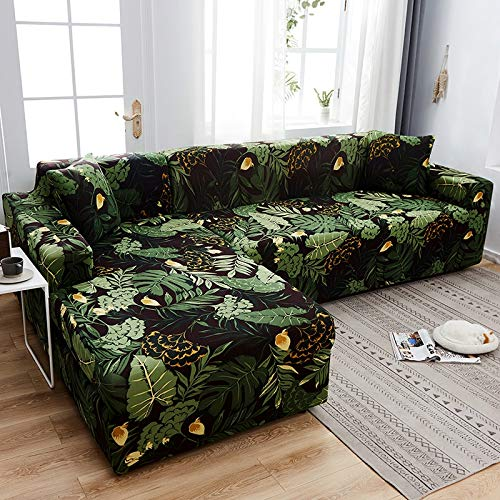 Funda de sofá geométrica Funda de sofá Fundas de sofá elásticas para Sala de Estar Esquina en Forma de L Chaise Longue Sillón Sofá Funda A11 3 plazas