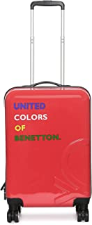 United Colors of Benetton Polycarbonate 22 cms Red Hardsided Cabin Luggage (0IP6HAB20B05I)