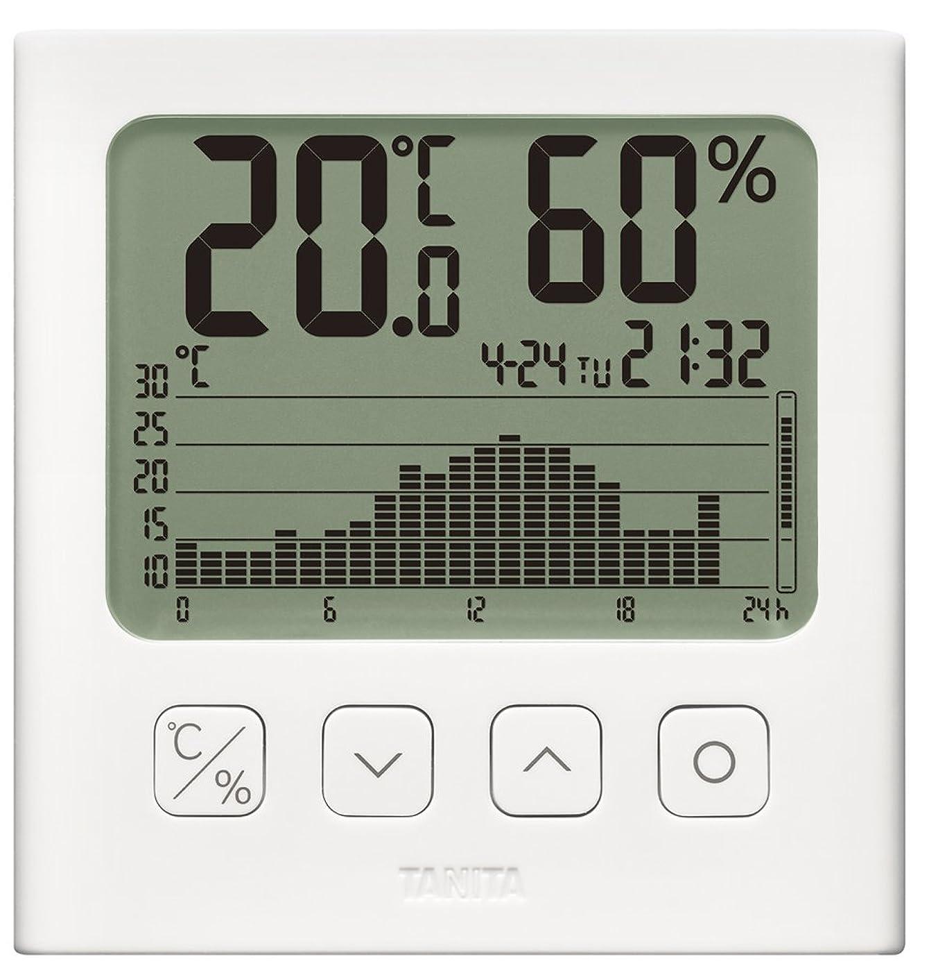 ナサニエル区不適真向こうタニタ 温湿度計 デジタル グラフ付 ホワイト TT-580 WH 温湿度の変化を確認