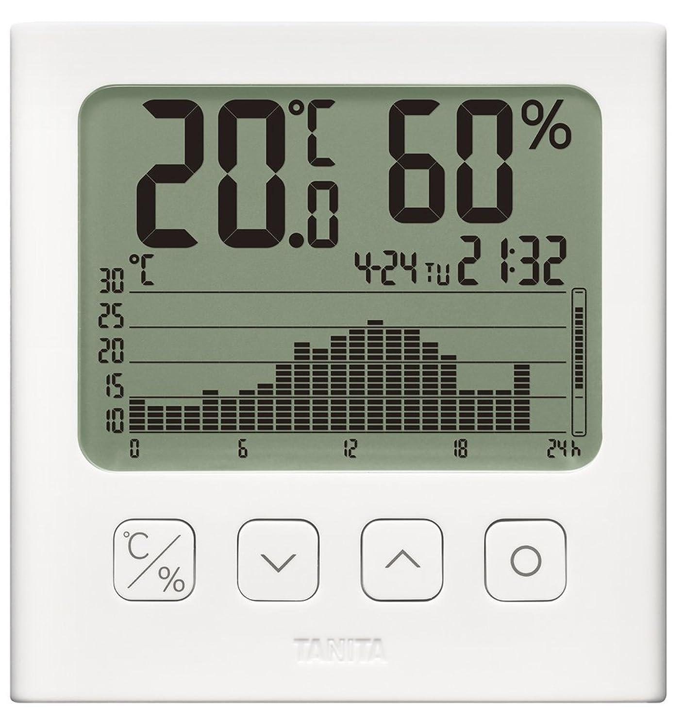 リーク祖母一元化するタニタ 温湿度計 デジタル グラフ付 ホワイト TT-580 WH 温湿度の変化を確認