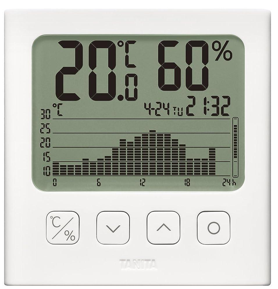 更新するお肉自動タニタ 温湿度計 デジタル グラフ付 ホワイト TT-580 WH 温湿度の変化を確認