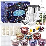 VIPNAJI Kit de Fabrication de Bougies de Cire Bricolage,DIY Bougies, Kit Fabrication Bougies Parfumées,mèches de Bougie,Pot de Fabrication,boîtes de Bougies, Autocollants de mèche, colorant de couleur