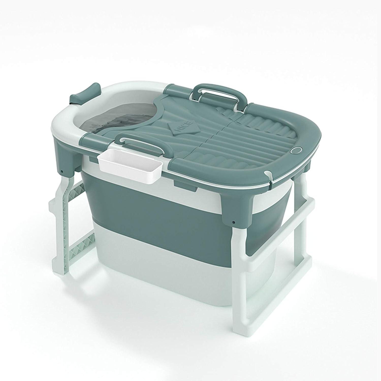 DHVK Portable Adult Quantity limited Folding Bathtub San Antonio Mall Basket and with Lid Storage