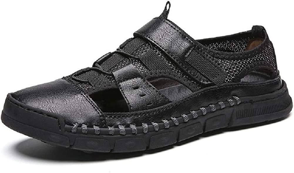MINIDUO Men's Fisherman Shoes Closed Leather Max 45% At the price OFF Summer Outdoor Toe