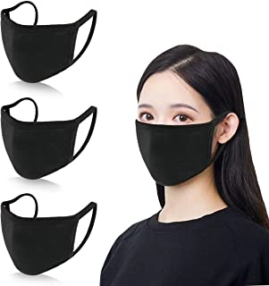 4 pieces Unisex Carbon Fiber Face Outdoor Anti-Haze Face Durable Breathable Lightweight Face Shield Dust Mouth black