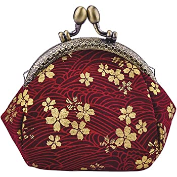 Chinese Carps Women Girl Canvas Floral Coin Purse Clutch Pouch Wallet