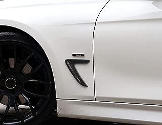 YUECHI ABS Carbon Fiber Shark Gills Side Decoration Fender Vent Trim for BMW F30 F35 2013-2017