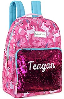 Letter T Justice Mini Small Backpack Rucksack Flip Sequin Lilac Mermaid Initial