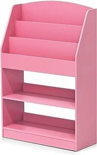 FURINNO Kidkanac Magazine/Bookshelf With Toy Storage, Pink