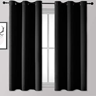Rutterllow Blackout Curtains for Bedroom, Thermal Insulated Room Darkening Curtains 2 Panels for Living Room, Grommet Top ...
