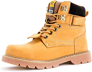 Dr. Martin unisex boots The first layer of leather women's boots yellow couple short boots high-top neutral big toe shoes tooling matte men's and women's shoes (Color : Yellow, Size : 45)