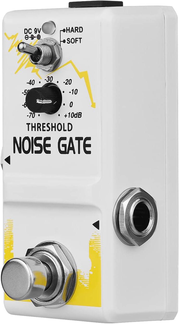 summina Pedal de efecto de guitarra de puerta de ruido único True Bypass cinc aleación Shell