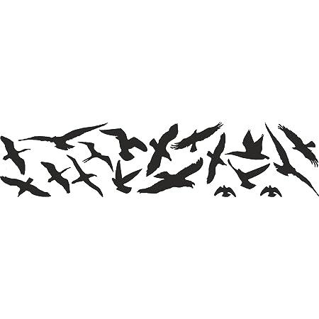 Vogelschutz Und Fensterschutz 18er Set Vogel Aufkleber Warnvögel Wintergarten Wetterfest Küche Haushalt