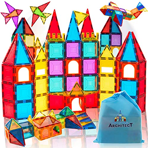 My little architect magnetic tiles building blocks for kids 3d magnet...