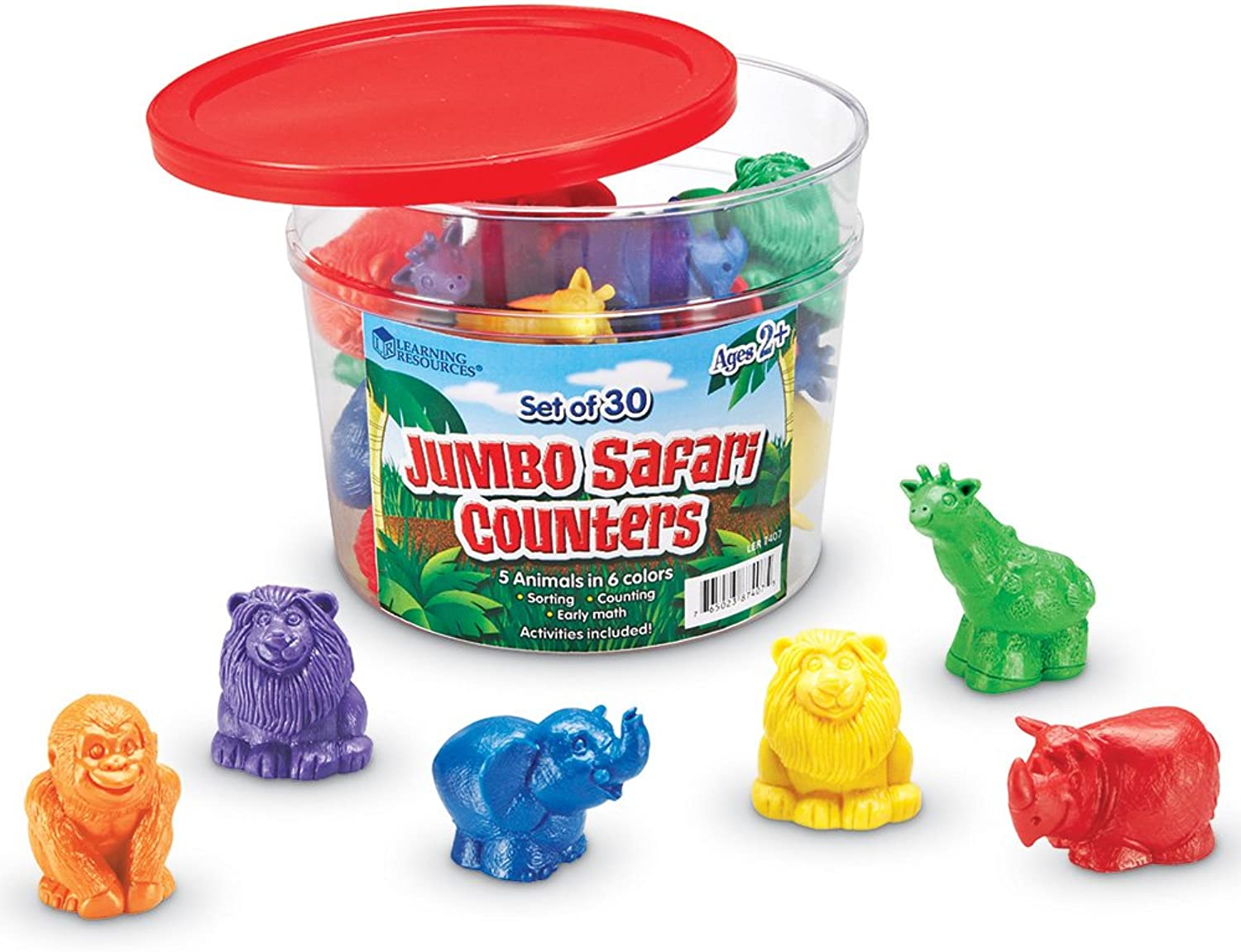 Learning Resources Jumbo Safari Counters