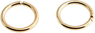 14K Yellow Gold Filled Extra Small Piercing Hoop Rings 6mm or 0.23 Inch 22 Gauge Thin Handmade Earrings Septum Jewelry