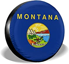 Ximanwoai Montana Tire Covers for RV Wheel Motorhome Wheel Covers, Waterproof UV Coating Tire Protectors for Trailer Truck Camper Auto, Fits 14-17inchTire
