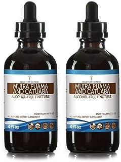 Muira Puama and Catuaba Alcohol-Free Liquid Extract (Ptychopetalum Olacoides and Erythroxylum Catuaba) Dried Bark Tincture Supplement (2x4 FL OZ)