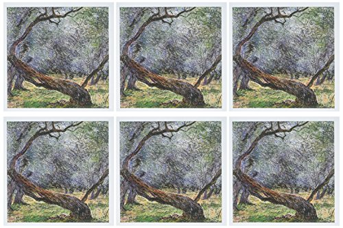 3dRose Study of Olive Trees by Claude Monet, 1884 - Greeting Cards, 6 x