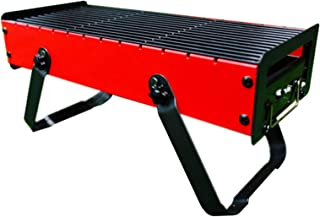 Outdoor Small Portable Charcoal Grill Outdoor Barbecue Camping Tool` (Color : Red, Size : 43 * 18 * 10)
