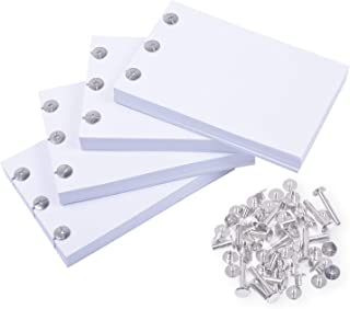 """Rancco Blank Flipbook Drawing Paper for Light Pad, 400 Sheet(800 Page) Sketch Paper with Holes for Animation, Sketching, and Cartoon Creation, with 30 Screws in 4 Size, Pre-Drilled, No-Bleed, 4.7x3.1"""""""