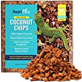 ReptiCasa Organic Coconut Chips Expandable Substrate Block for Reptiles, Snakes, Tortoise, and Amphibians, Natural Fiber Free Husks, Clean Breeding and Bedding Flooring, Odor Absorbing, up to 75 Quart