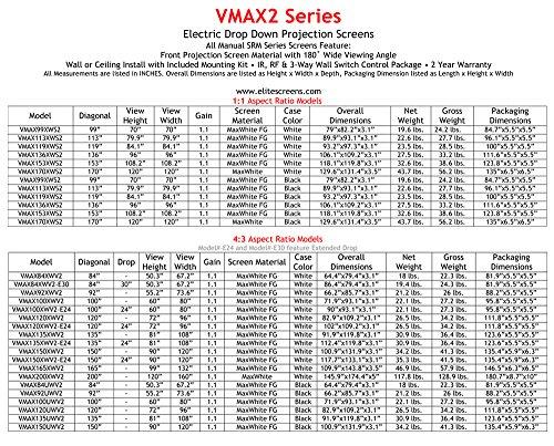 エリートスクリーン『ヴィマックス2100インチ(16:9)ブラックケース(VMAX100UWH2)』