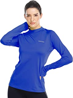 HISKYWIN Women's Ultra Soft Lightweight Thermal Underwear Top Fleece Lined Base Layer Long Sleeve Shirt