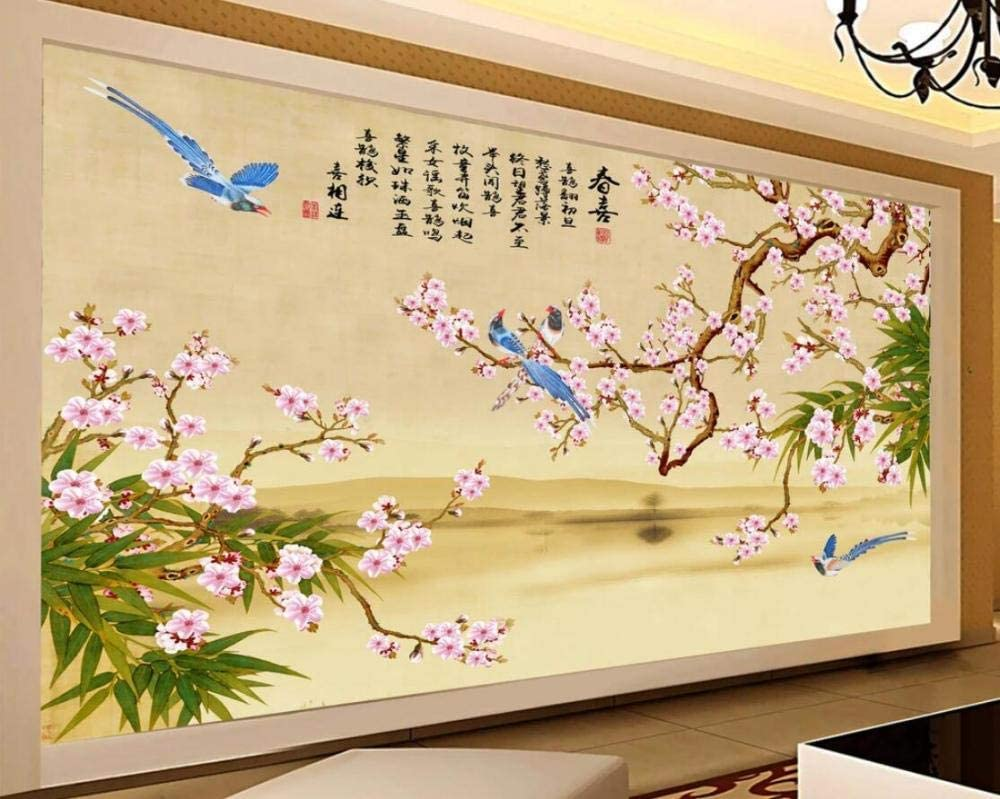 Wallpaper Sticker 3D Opening large release sale Ranking TOP15 Mural Hand Chinese Plum Drawn Mag