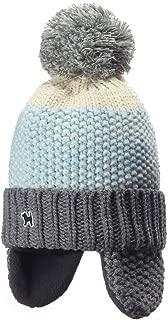Kids Cuff Knit Beanie Baby Toddler Children Warm Pom Winter Hat with Earflap