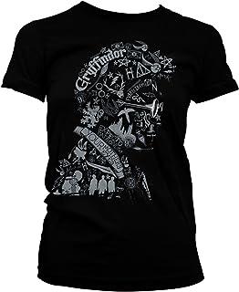 HARRY POTTER Oficialmente Licenciado Wordings and Symbols Mujer Camiseta