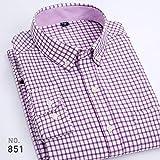 Camisas A Cuadros De Los Nuevos Hombres del Negocio Camisas De Vestir Oxford Clásicas Ocasionales De La Manga Larga Tallas Grandes Hombre Tops