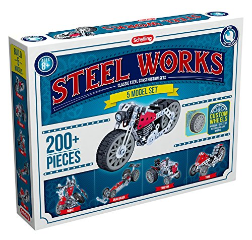 Schylling Steel Works 5 Model Construction Building Kit